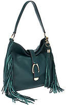 G.I.L.I. got it love it G.I.L.I Leather Stirrup Hobo Bag with Fringe