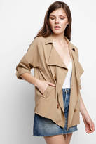 BB Dakota Drape Front Trench Coat
