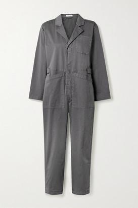 Alex Mill Standard Cropped Cotton-blend Twill Jumpsuit - Gray