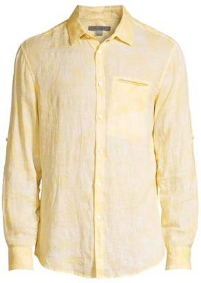 John Varvatos Garment Dye Button-Down Shirt