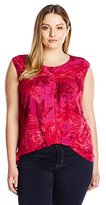 Lucky Brand Women's Plus Size Boxy Shirttail Top