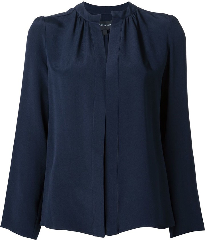 Derek Lam Kara long-sleeve silk blouse
