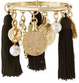 Oscar de la Renta 10K Tassel Charm Bracelet, Black