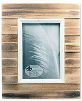 Lawrence Frames 734557 5x7 Natural Weathered Wood Picket Fence Picture Frame