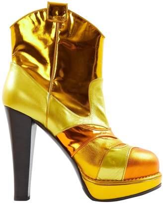 Bottega Veneta Gold Leather Boots