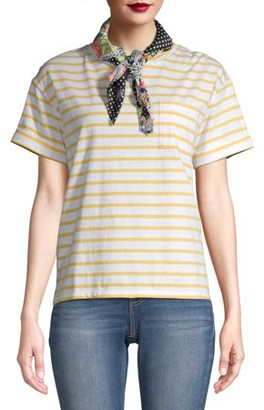 Time and Tru Women's T-Shirt with Scarf