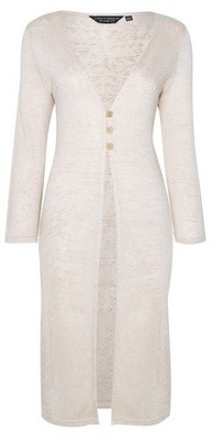 Dorothy Perkins Womens Stone Linen Look Cardigan