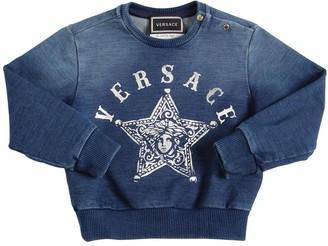 Versace Printed Cotton Blend Sweatshirt