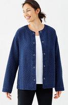J. Jill Pure Jill Indigo Quilted Jacket