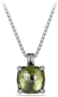 David Yurman Chatelaine Pendant Necklace with Green Orchid and Diamonds