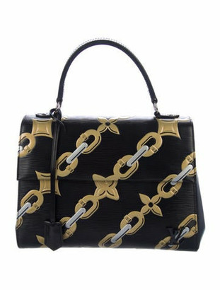 Louis Vuitton Epi Chain Flower Cluny MM Black