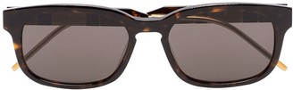 Gucci Tortoiseshell-Effect Square Sunglasses