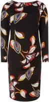 Biba Deco print long sleeve jersey dress