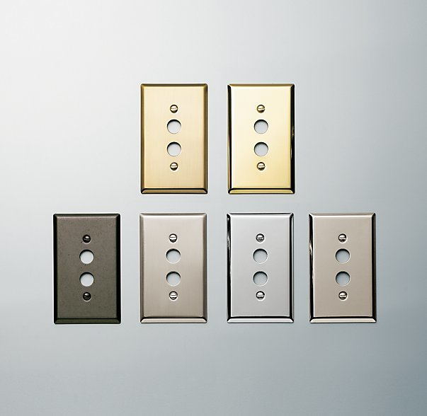 Restoration Hardware Victorian Push Button Single Switch Plate