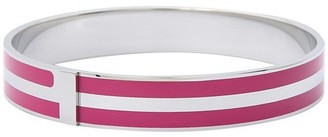 Marc by Marc Jacobs Women's Classic Marc Enamel Striped Bangle Pop Pink MD/LG