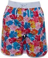 Board Angels Girls AOP Board Shorts White/Multi