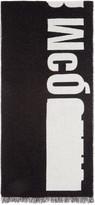 McQ by Alexander McQueen Black & Off-White Knit Logo Scarf