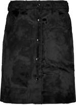 MAISON KITSUNÉ Velvet mini skirt