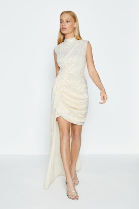 Coast Sleeveless Drape Detail Short Dress