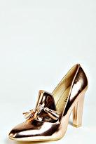 Louisa Metallic Heeled Loafers