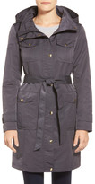 Ellen Tracy Belted Utility Trench Coat