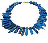 Mapleton Drive Turquoise Blue Jasper Spike Necklace
