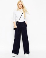 Asos Brushed Wide Leg Pants