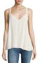 Haute Hippie Peggy Suspender Camisole Top, Off White