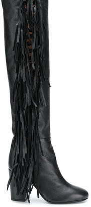Laurence Dacade almond toe fringe boots