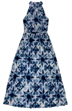 INC International Concepts Inc Petite Solar Mirage Printed Halter Maxi Dress, Created for Macy's
