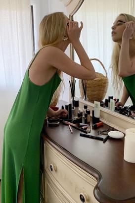 Urban Outfitters Pleated Slip Midi Dress