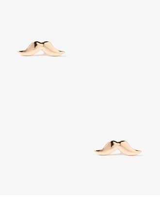 Forever 21 Mustache Studs