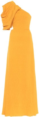 Johanna Ortiz Shimmering Blush crepe gown