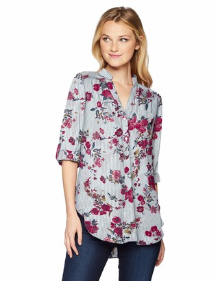 Amy Byer A. Byer Junior's Young Woman's Teen Long Sleeve Roll-Tab Tunic