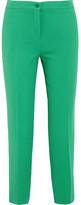 Etro Capri Crepe Straight-leg Pants - Green