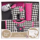 Trend Lab 5-Piece Serena Welcome Baby Essentials Gift Set in Pink/Black