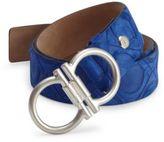 Salvatore Ferragamo Stamped Jeanswear Suede Belt