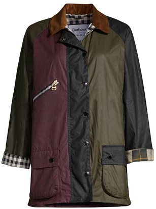 Barbour By Alexa Chung Patch Waxed Cotton Jacket