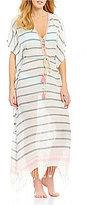 Gianni Bini Striped Lurex Maxi Dress Cover-Up