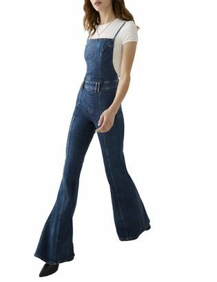 True Religion Women's Fey Flare Fit Jumpsuit