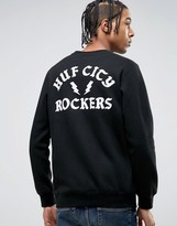Huf Sweatshirt With City Rockers Back Print