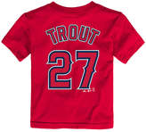 Majestic Toddlers' Mike Trout Los Angeles Angels of Anaheim Player T-Shirt