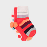Paul Smith Girls' 7+ Years' Multi-Colour 'Rainbow, Spot And Stripe' Sock Set
