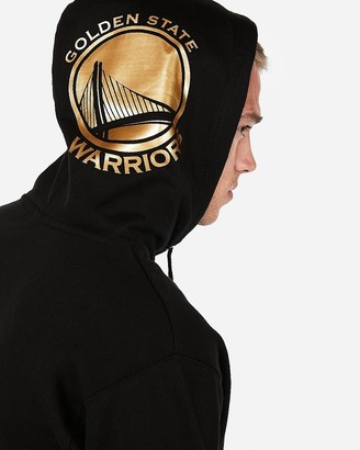 Express Golden State Warriors Nba Fleece Foil Graphic Hoodie