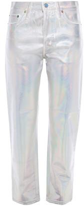 Acne Studios Iridescent Coated High-rise Straight-leg Jeans
