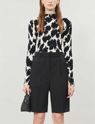 Topshop Boutique floral cotton-knit top