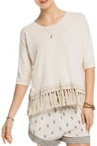 Scotch & Soda Fringed Cotton Tee