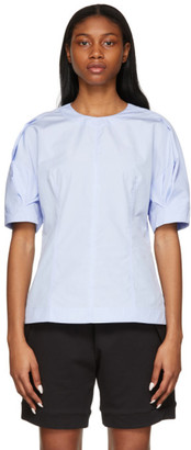 3.1 Phillip Lim Blue Poplin Zip Blouse