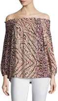 Plenty by Tracy Reese Women's Printed Off Shoulder Blouse