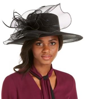 August Hats Wide-Brim Braided Dressy Hat